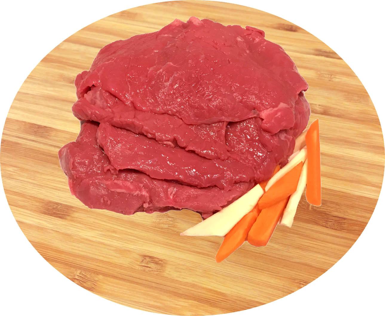 Rindsschnitzel geschnitten vom BIO-Jungrind, ca. 0,9 kg
