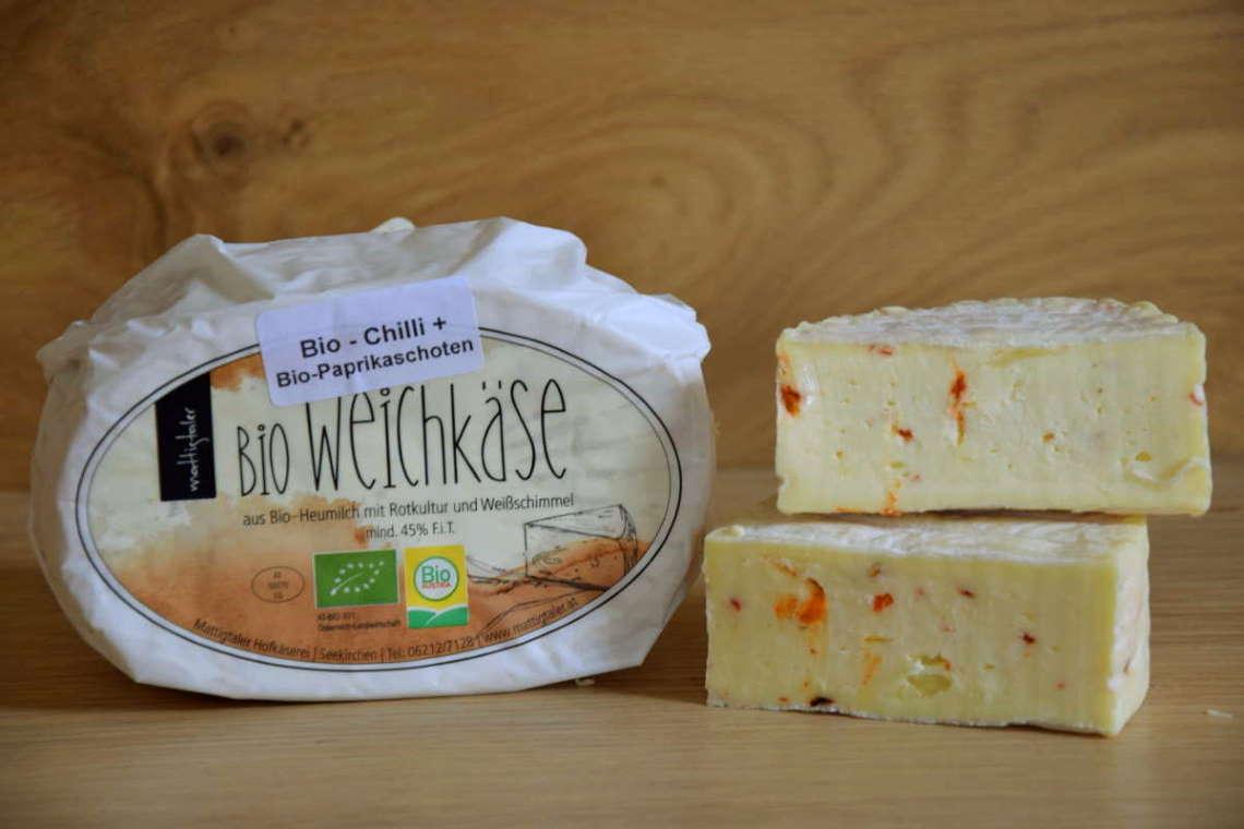 BIO Mattigtaler Paprika-Chili Weichkäse, ca. 200g