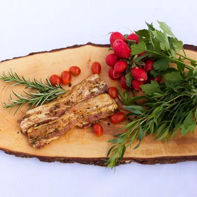 BIO Bauchfleisch mariniert vom Schwäbisch Hällischen Landschwein, ca. 0,5 kg