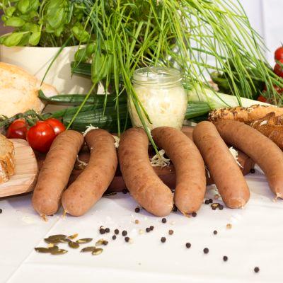 BIO Käsekrainer vom Schwäbisch Hällischen Landschwein, ca. 20 dag