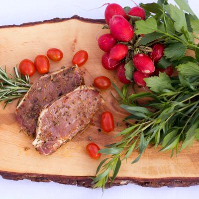 BIO Karree Kotelett mariniert vom Schwäbisch Hällischen Landschwein, ca. 0,5 kg