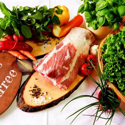 BIO Langes Karree ohne Knochen vom Schwäbisch Hällischen Landschwein, ca. 1 kg