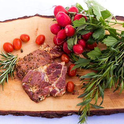 BIO Schopfkotelett mariniert vom Schwäbisch Hällischen Landschwein, ca. 0,5 kg