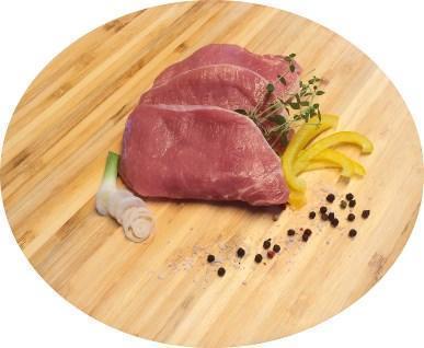 Kurze Koteletts geschnitten vom BIO-Schwein