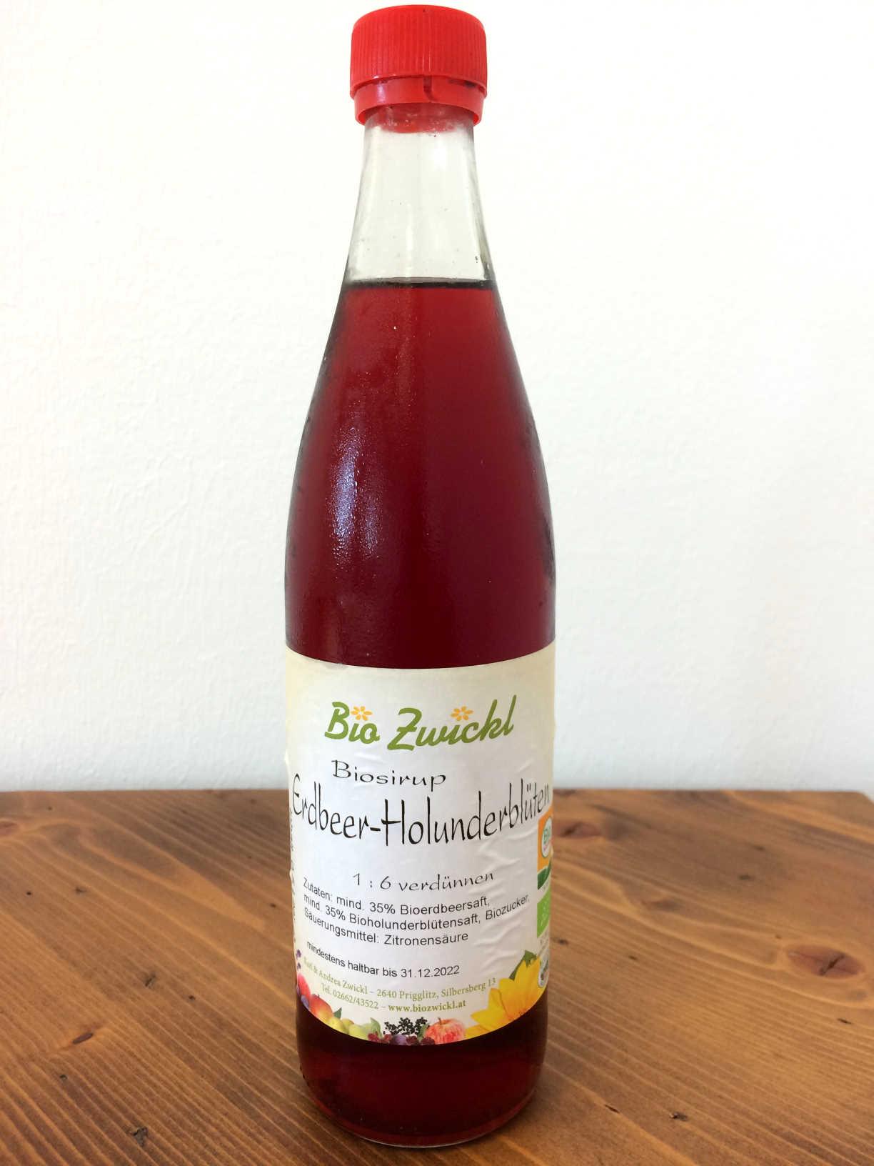 BIO Erdbeer-Holunder Sirup, 0,5 Liter