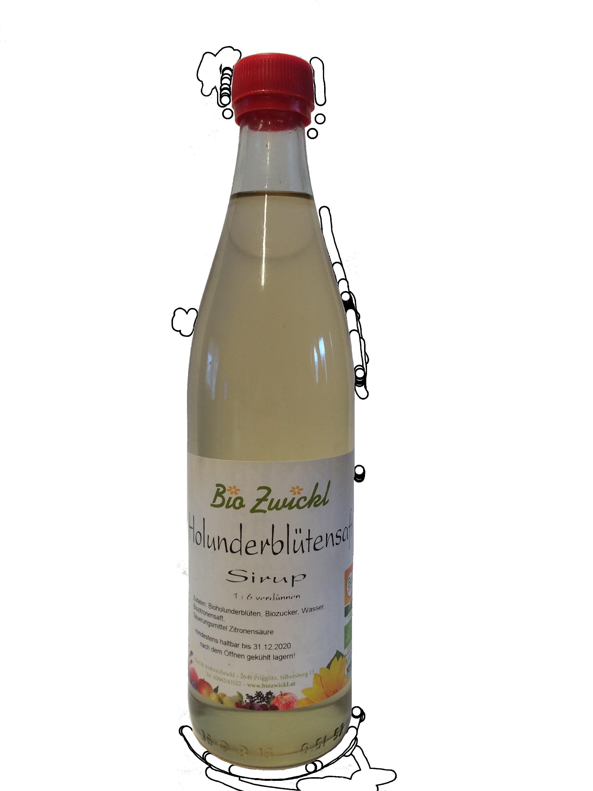 BIO Holunderblütensirup, 0,5 Liter